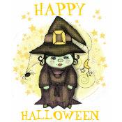 Halloween Little Witch Black T-Shirt - Customized shirt