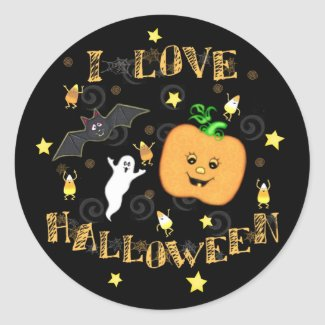 Halloween Love Stickers