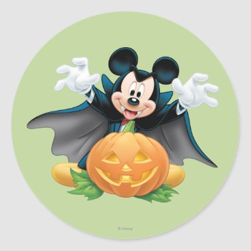 Halloween Mickey Mouse 1 Classic Round Sticker