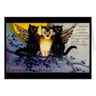 Halloween Owl and Black Cats Cards