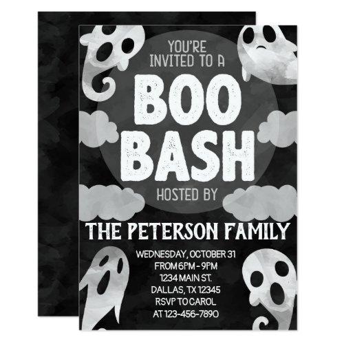 Halloween Party Invitation Ghost Boo Bash Invite