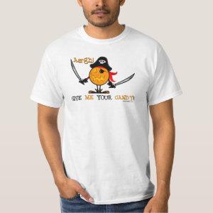 Halloween Pirate Pumpkin T-Shirt