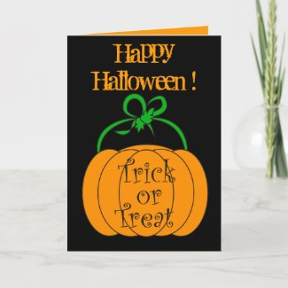 Halloween pumpkin - Card card