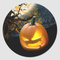 Halloween Pumpkin Classic Round Sticker