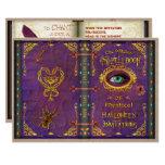 Halloween Witches Magic Spell Book Eyeball Spider Invitation
