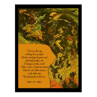 Halloween Witching Time Postcard