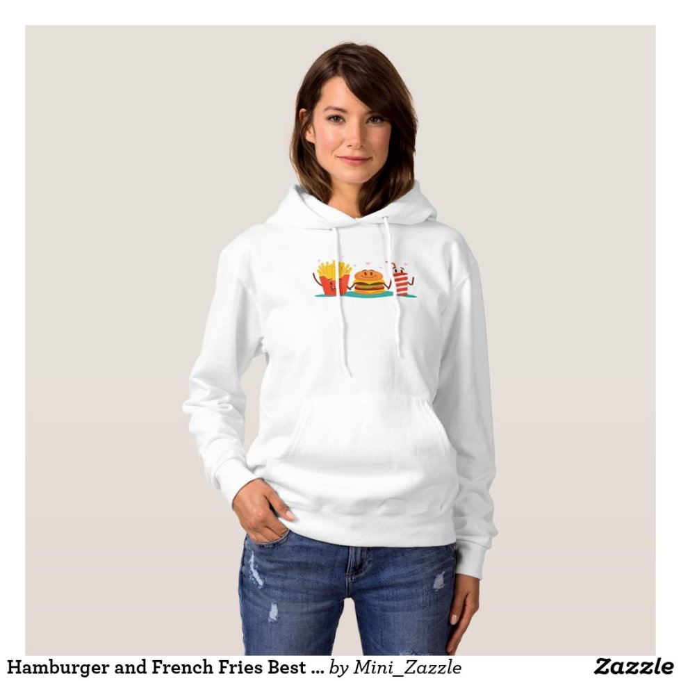 Hamburger and French Fries Best Friend Hoodie