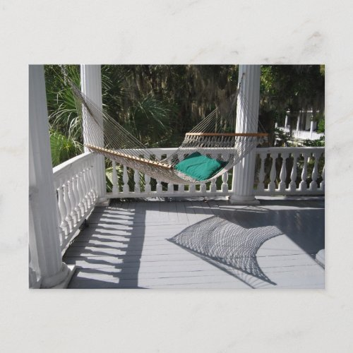 Hammock on the Veranda Postcard postcard