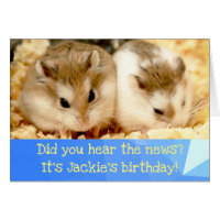 Hammyville - Cute Hamster Happy Birthday Card