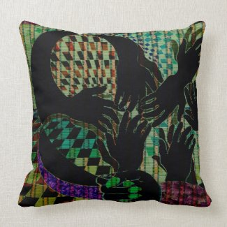 Hand to Hand CricketDiane Art Designer Pillow throwpillow