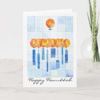 Hanging Hanukkah Candles card