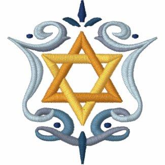 Hanukkah Greeting Embroidered Shirt