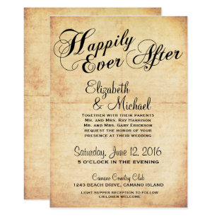 Hily Ever After Fairytale Wedding Invitation