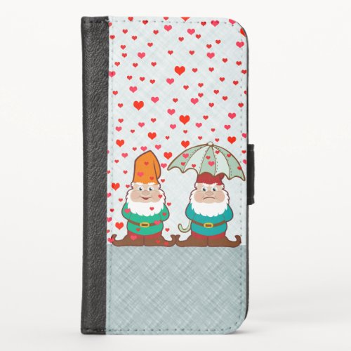 Happy and Grumpy Gnomes iPhone X Wallet Case