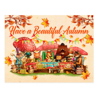 Happy Autumn Postcard