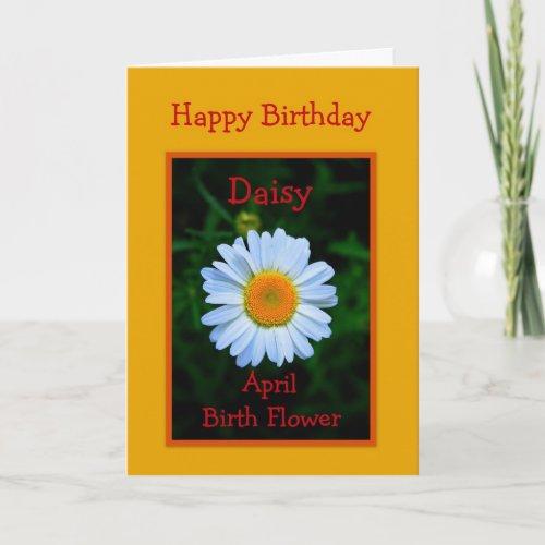 Happy Birthday April Birth Flower card