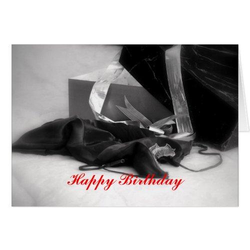 Happy Birthday Black Lingerie card