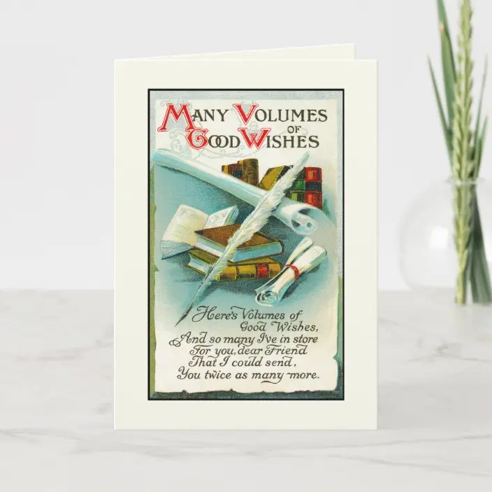 Happy Birthday Book Lover Volumes Of Good Wishes Card Zazzle Com