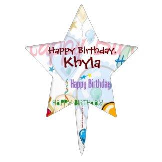 Happy Birthday Cake Pick (Personalize)