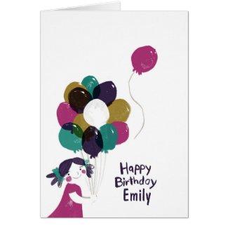 Happy Birthday Card Balloons