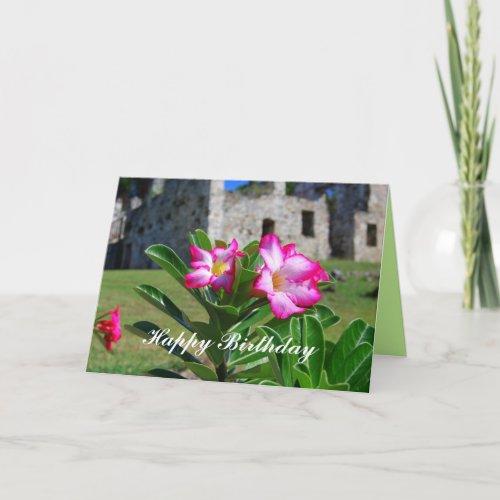 Happy Birthday Desert Rose Flowers at Sugar Mill card