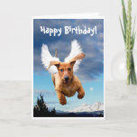 ❤️ Happy Birthday from Michael the Bark Angel, Card