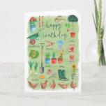 ❤️  Happy Birthday Gardening Garden | Greeting Card