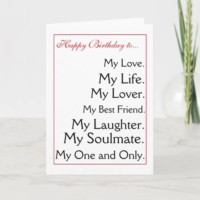 Happy Birthday Girlfriend Boyfriend Wife Husband Card Zazzle Com
