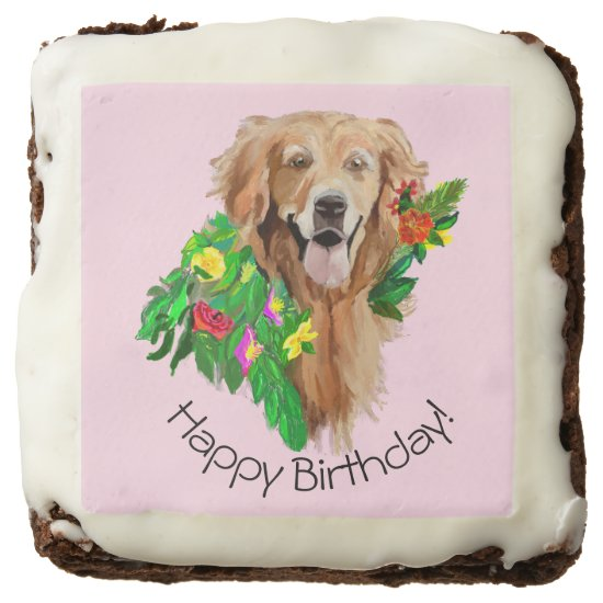 Happy Birthday Golden Retriever Brownie