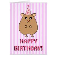 Happy Birthday Hamster Greeting Card