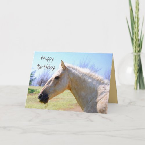 Happy Birthday Palomino Horse Card card
