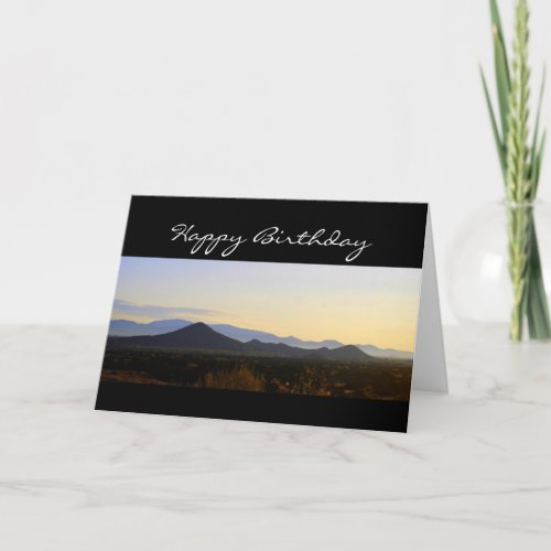 Happy Birthday Santa Fe Hills card