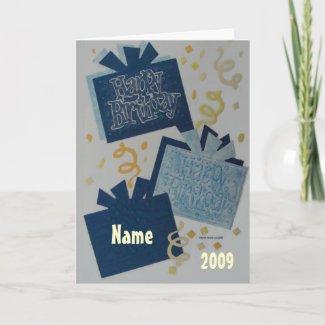 Happy Birthday - Scrapbook 2 - Seasons Card card