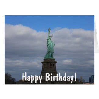 Happy Birthday Statue of Liberty NYC Large Greeting Card
