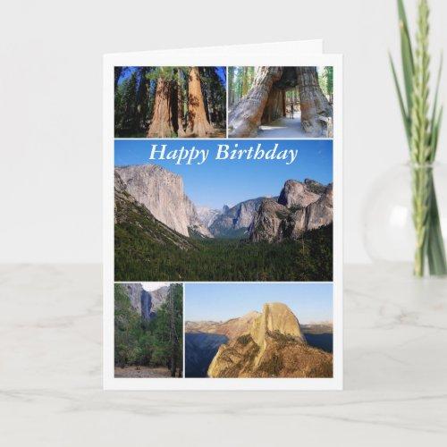 Happy Birthday, Yosemite National Park Collage Cards