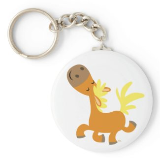 Happy Cartoon Pony keychain keychain