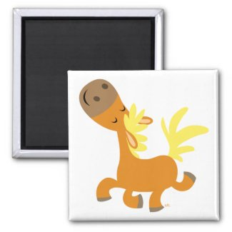 Happy Cartoon Pony magnet magnet