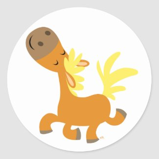 Happy Cartoon Pony Sticker sticker