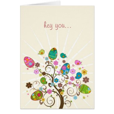 Happy Easter Abstract Easter Tree Card