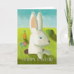 Sweet Bunny In Meadow Spring Easter Card