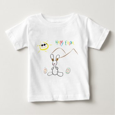 Happy Easter Kids Drawing Baby T-Shirt