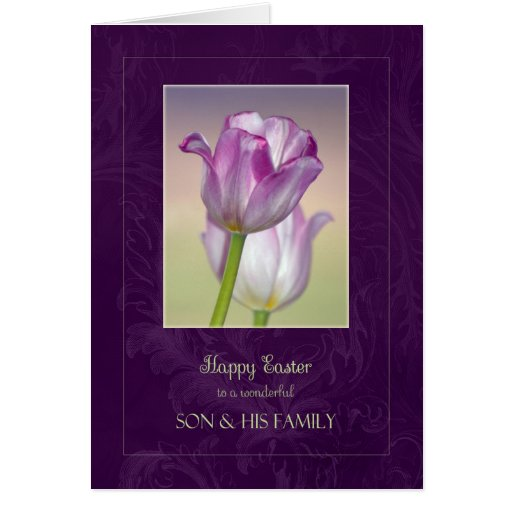 Happy Easter Son Amp Family Card Zazzle