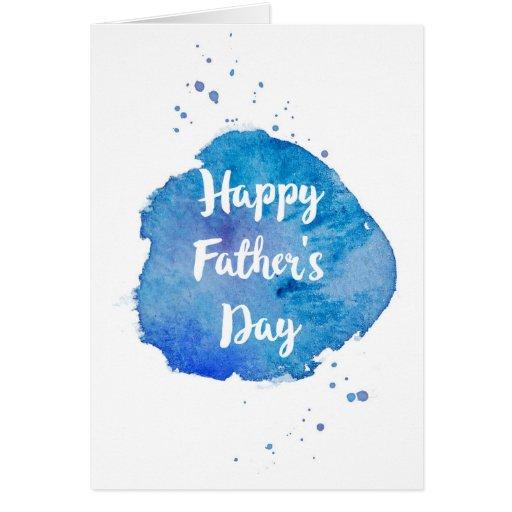 Happy Fathers DayWatercolor Splash Card Zazzle