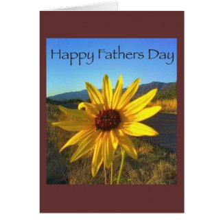 Happy Fathers Day with Yellow WildFlower Greeting Card