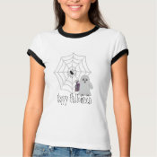 Happy Halloween Ghost and Spider Shirt shirt