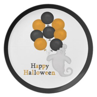 Happy Halloween Ghost Plate