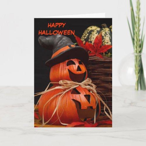 happy halloween pumpkin Greeting Card