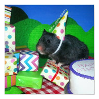 Happy Hamster Birthday! Card