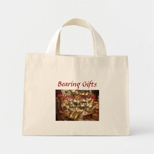 Happy Holidays - Bearing Gifts - Jumbo Tote Bag bag
