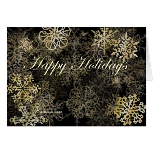 'Happy Holidays' Snowflakes Card card